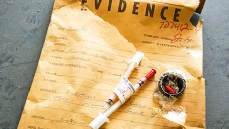 Photo of an envelope with evidence by Ashley Diener