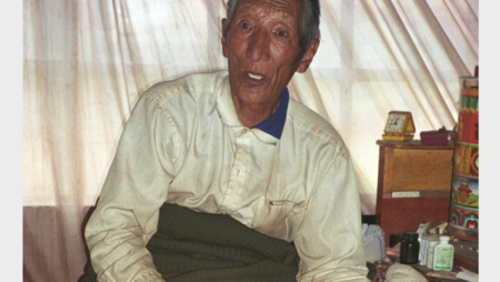 A photograph of the mediator Xhombo, taken by Professor Pirie during fieldwork